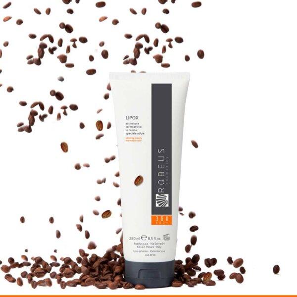 Krém podporující spalování tuků s kofeinem a teofylinem